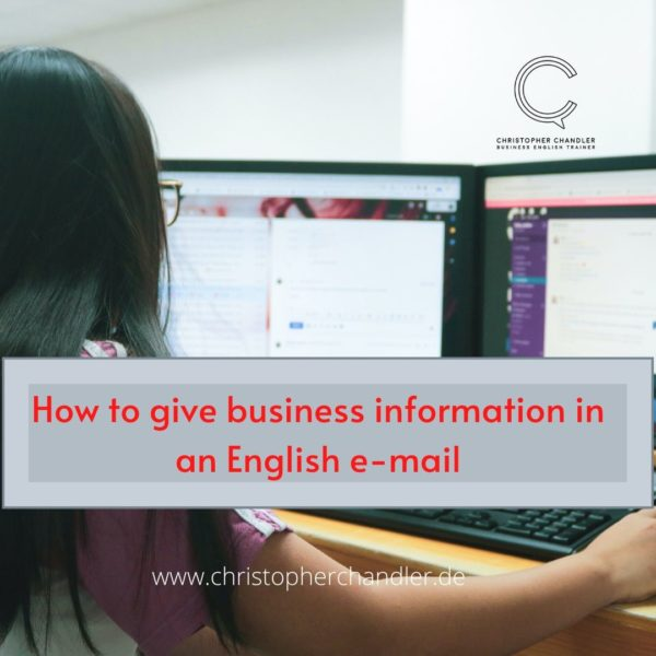 business information english e-mail