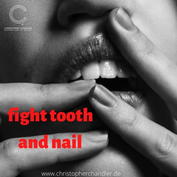 fight tooth and nail idiom