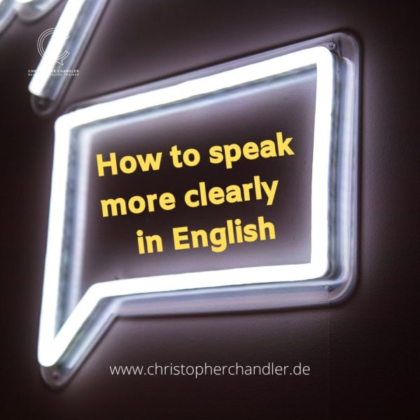 speak clearly English